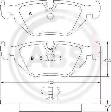 A.B.S. 36824 - Тормозные колодки, дисковые car-mod.com