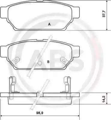 A.B.S. 36864 - Комплект тормозных колодок, дисковый тормоз autodnr.net