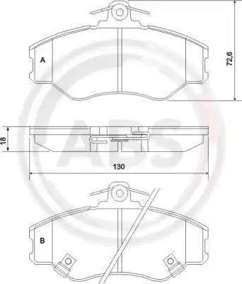 A.B.S. 36871 - Комплект тормозных колодок, дисковый тормоз autodnr.net