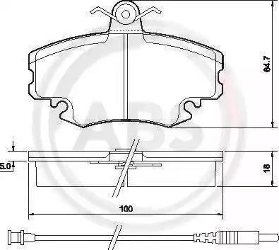 A.B.S. 36881 - Комплект тормозных колодок, дисковый тормоз autodnr.net