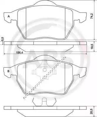 A.B.S. 36898 - Комплект тормозных колодок, дисковый тормоз autodnr.net