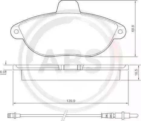 A.B.S. 36911 - Комплект тормозных колодок, дисковый тормоз autodnr.net