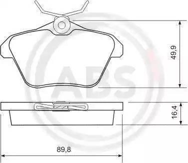 A.B.S. 36935 - Комплект тормозных колодок, дисковый тормоз autodnr.net