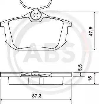 A.B.S. 36950 - Комплект тормозных колодок, дисковый тормоз autodnr.net