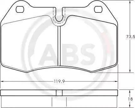 A.B.S. 36958 - Комплект тормозных колодок, дисковый тормоз autodnr.net