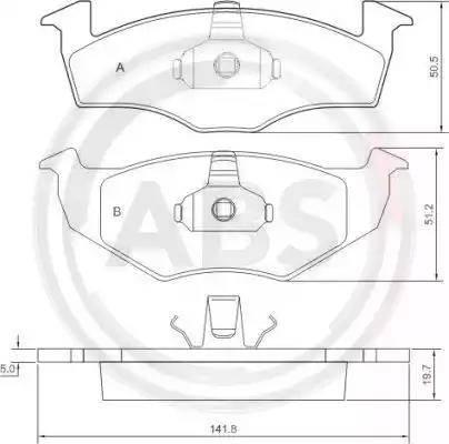 A.B.S. 36970 - Комплект тормозных колодок, дисковый тормоз autodnr.net