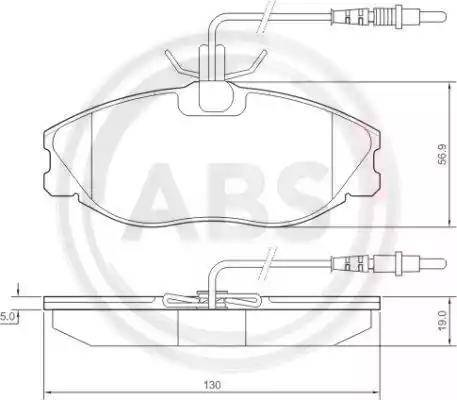 A.B.S. 36977 - Комплект тормозных колодок, дисковый тормоз autodnr.net