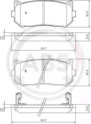A.B.S. 37045 - Комплект тормозных колодок, дисковый тормоз autodnr.net