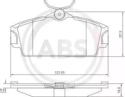 A.B.S. 37046 - Комплект тормозных колодок, дисковый тормоз autodnr.net