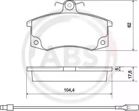 A.B.S. 37079 - Комплект тормозных колодок, дисковый тормоз autodnr.net