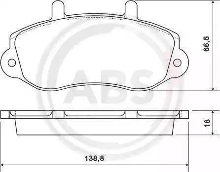A.B.S. 37111 - Комплект тормозных колодок, дисковый тормоз autodnr.net