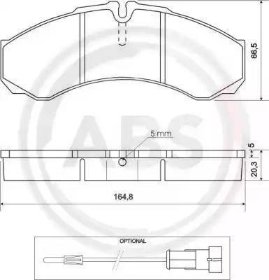 A.B.S. 37113 - Комплект тормозных колодок, дисковый тормоз autodnr.net