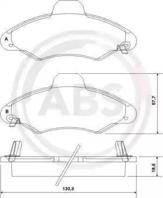 A.B.S. 37127 - Комплект тормозных колодок, дисковый тормоз autodnr.net
