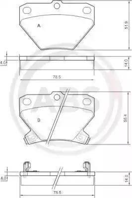 A.B.S. 37136 - Комплект тормозных колодок, дисковый тормоз autodnr.net