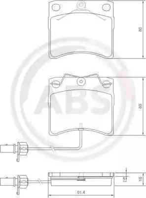 A.B.S. 37144 - Комплект тормозных колодок, дисковый тормоз autodnr.net