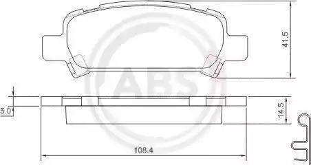 A.B.S. 37164 - Тормозные колодки, дисковые car-mod.com