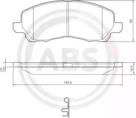 A.B.S. 37202 - Комплект тормозных колодок, дисковый тормоз autodnr.net