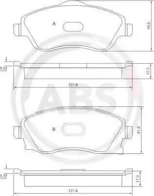 A.B.S. 37213 - Комплект тормозных колодок, дисковый тормоз autodnr.net