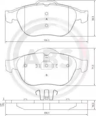 A.B.S. 37218 - Комплект тормозных колодок, дисковый тормоз autodnr.net