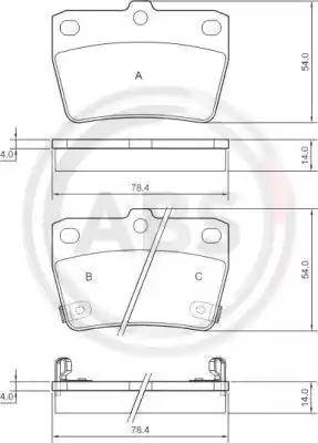 A.B.S. 37227 - Комплект тормозных колодок, дисковый тормоз autodnr.net