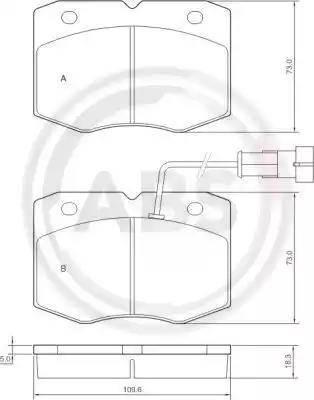A.B.S. 37265 - Комплект тормозных колодок, дисковый тормоз autodnr.net