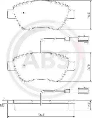A.B.S. 37280 - Комплект тормозных колодок, дисковый тормоз autodnr.net