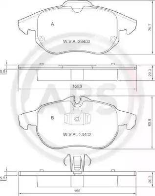 A.B.S. 37300 - Комплект тормозных колодок, дисковый тормоз autodnr.net