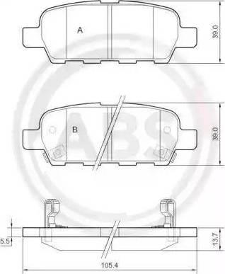 A.B.S. 37321 - Комплект тормозных колодок, дисковый тормоз autodnr.net
