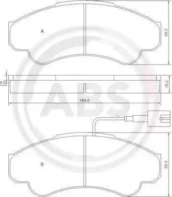 A.B.S. 37332 - Комплект тормозных колодок, дисковый тормоз autodnr.net