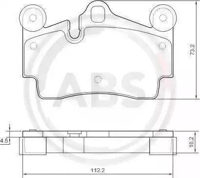 A.B.S. 37365 - Тормозные колодки, дисковые car-mod.com