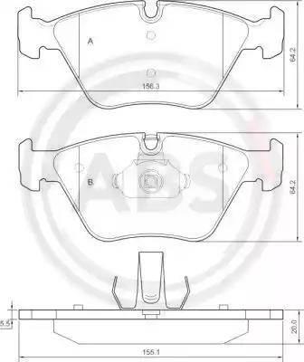 A.B.S. 37374 - Тормозные колодки, дисковые car-mod.com