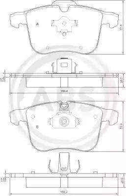 A.B.S. 37389 - Комплект тормозных колодок, дисковый тормоз autodnr.net
