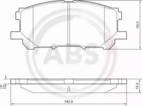 A.B.S. 37458 - Тормозные колодки, дисковые car-mod.com