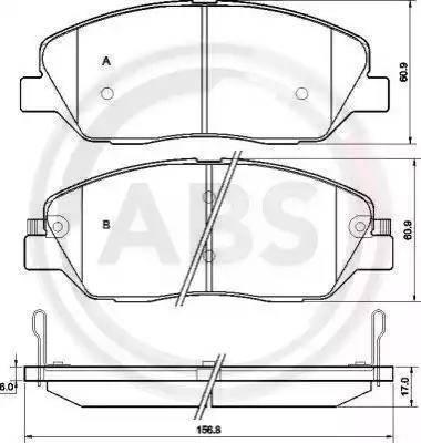 A.B.S. 37522 - Комплект тормозных колодок, дисковый тормоз autodnr.net