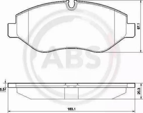 A.B.S. 37553 - Тормозные колодки, дисковые car-mod.com