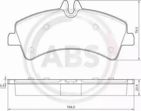 A.B.S. 37554 - Комплект тормозных колодок, дисковый тормоз autodnr.net