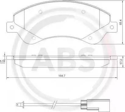 A.B.S. 37559 - Комплект тормозных колодок, дисковый тормоз autodnr.net