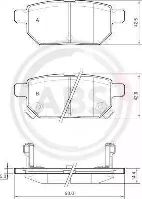 A.B.S. 37580 - Тормозные колодки, дисковые car-mod.com
