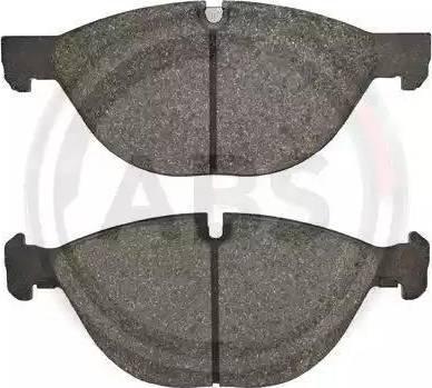A.B.S. 37610 - Комплект тормозных колодок, дисковый тормоз autodnr.net