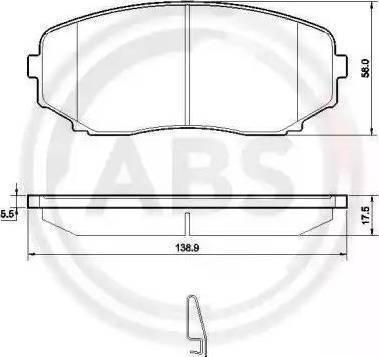 A.B.S. 37643 - Комплект тормозных колодок, дисковый тормоз autodnr.net