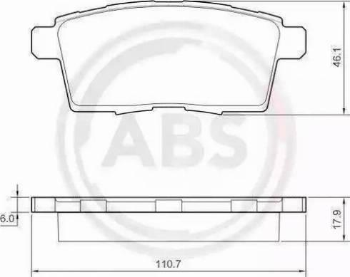 A.B.S. 37644 - Комплект тормозных колодок, дисковый тормоз autodnr.net