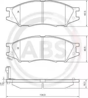 A.B.S. 37680 - Комплект тормозных колодок, дисковый тормоз autodnr.net