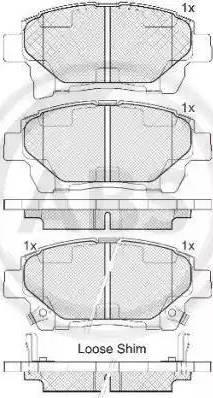 A.B.S. 37738 - Комплект тормозных колодок, дисковый тормоз autodnr.net