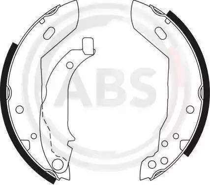 A.B.S. 8320 - Комплект тормозных башмаков, барабанные car-mod.com