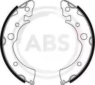 A.B.S. 8650 - Комплект тормозных башмаков, барабанные car-mod.com
