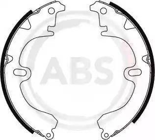 A.B.S. 8653 - Комплект тормозных башмаков, барабанные car-mod.com