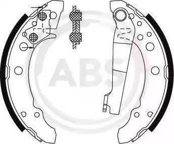 A.B.S. 8772 - Комплект тормозных башмаков, барабанные car-mod.com