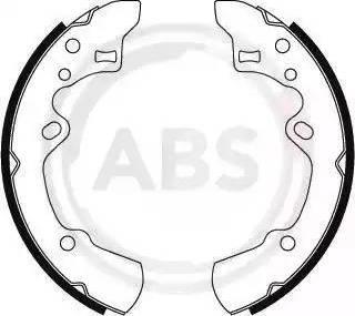 A.B.S. 8839 - Комплект тормозных башмаков, барабанные car-mod.com