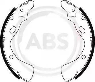 A.B.S. 8857 - Комплект тормозных башмаков, барабанные car-mod.com