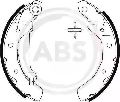 A.B.S. 9061 - Комплект тормозных башмаков, барабанные car-mod.com